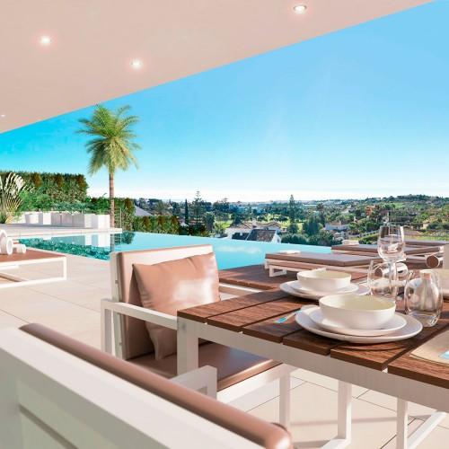 Vista terraza villa en Marbella